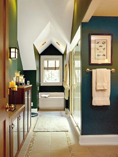 Updated Bathroom - MyHomeIdeas.com   #KathyClulow 905.852.6143 www.KathyClulow.ca  I like these colors a lot :)