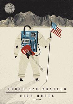 Creative Music Posters by Dawid Ryski | Rolling Stone Italia