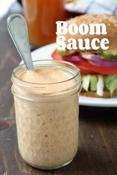 Boom Sauce, an easy burger and fry sauce recipe! The best dipping sauce for frie… Boom Sauce, an easy burger and fry sauce recipe! The best dipping sauce for fries, onion rings, veggies and all sorts of things. Burger Sauces Recipe, Sandwich Sauces, Burger Recipes, Best Burger Sauce, Sauces For Burgers, Salmon Burger Sauce, Best Burger Recipe, Fish Sandwich Sauce Recipe, Aioli Recipe For Burgers
