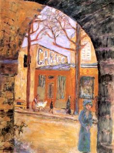 Street Scene (also known as The Auteuil Viaduct) Pierre Bonnard - circa 1910