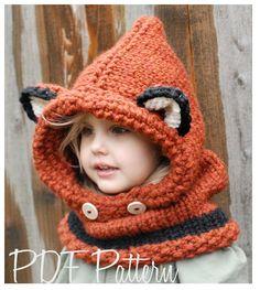 Knitting PATTERN The Failynn Fox Cowl Toddler  by Thevelvetacorn