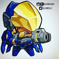 Tiny #Pharah <3  2 to go! #overwatch #blizzardentertainment #videogame #fanart
