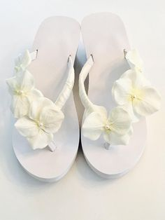 026d42b2a Bridal Flip Flops  Wedges Beach Wedding Shoes Bridal Shoes Custom Bride  Shoes. Wedding Flip Flops. Glam Bride Shoes. Bridesmaid Flip Flops