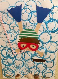 Summer Crafts For Kids, Summer Art, Spring Crafts, Art For Kids, Kindergarten Art, Preschool Crafts, Theme Nature, Sea Crafts, Art Lessons Elementary