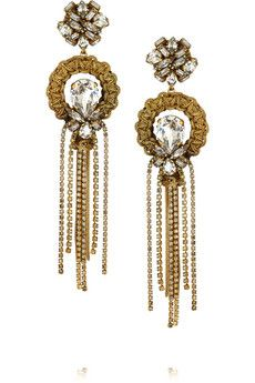 Erickson Beamon Damsel gold-plated Swarovski crystal earrings | NET-A-PORTER
