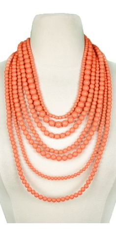 Bourbon Street Beads in Coral   http://www.vestique.com/index.php?route=product/product&keyword;=beads&product;_id=1772