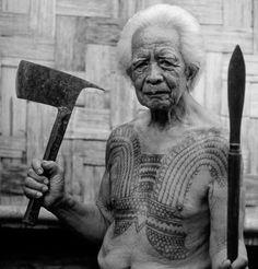 Tribal warrior from Kalinga, Philippines