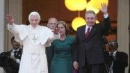 HAVANA  —  Pope Benedict XVI  held private talks Tuesday with President  Raul Castro  and sought an expanded role for the church in Cuban life as part of a broader mission to preach hope and freedom to the communist nation.  How can we help Cubans tweet their true feelings about freedom?