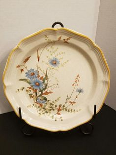 Vintage Mikasa Blue Daisies 10.75  Stoneware Dinner Plate Lovely plate has been barely used if at all.  No chips, cracks or crazing.   See photos for actual condition.   https://nemb.ly/p/Bk12bfTFg Happily published via Nembol