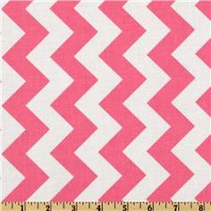 Riley Blake Chevron Medium Hot Pink Fabric, $9/yd