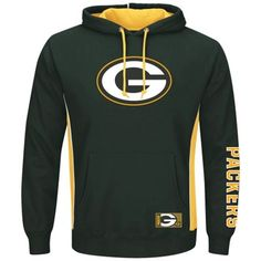 Mens Green Bay Packers Majestic Green Big & Tall Passing Game Pullover Hoodie