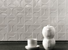 Ceramic 3D Wall Tile KHO LIANG LE by Mosa design Mosa Design Team