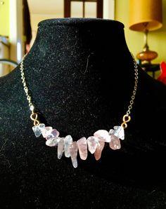 Rose Quartz Necklace HEART CHAKRA by SoulandShine on Etsy