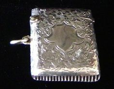 Antiques sterling silver match safe