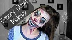 Image result for creepy clown makeup