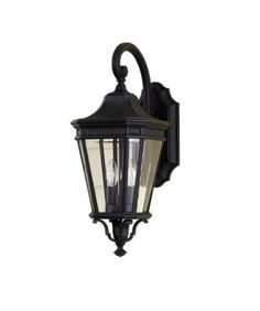 Murray Feiss OL5401BK Cotswold Lane Collection 20.5-Inch 2-Light Exterior Wall Sconce, Black Finish with Clear Glass by Murray Feiss. $116.10. From the Manufacturer                Murray Feiss Cotswold Lane Collection OL5401BK 2-Light Exterior Wall Sconce features a dramatic Black finish complemented by Clear glass for a classy but casual design to enlighten your estate on dark nights for many years to come. This would illuminate any outside atmosphere in any exter...