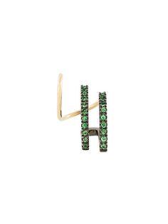 MARIA BLACK 'Bess Vert' twirl tsavorite earring. #mariablack #earring