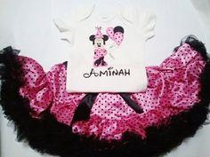Lily Minnie Mouse Birthday Custom Onesie/ Swarovski Crystals