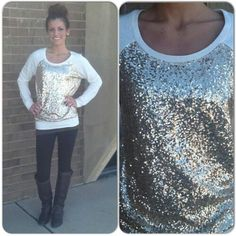 Sequin sweater <3