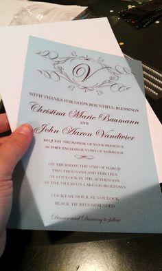 How To Make Your Own Wedding Invitations for under $50 - BridalTweet Wedding Forum & Vendor Directory
