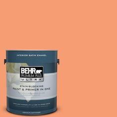BEHR Premium Plus Ultra 1-gal. #P200-5 Burning Coals Satin Enamel Interior Paint