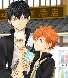 Kageyama and Hinata - #Haikyuu