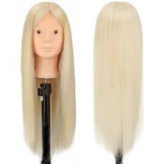 """CoastaCloud 24"""" Cosmetology Mannequin Manikin Heads Training Head for Eyelash Makeup Practice Hairdressing Training with Table Clamp - Kara *** Read more reviews of the product by visiting the link on the image. (This is an affiliate link) #HairCare"""