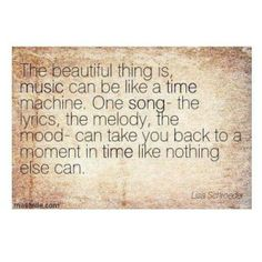 The mystical power of music can truly calm the savage soul.