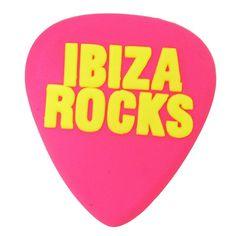 Ibiza Rocks: Plectrum Fridge Magnet in Pink