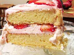Strawberry Lemonade Cake for L.J.'s going away party.