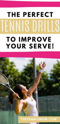 One way to win more points when playing tennis is by having a solid serve.  Try these easy tennis drills during practice to improve your tennis serve and win more points. Tennis Gear, Tennis Tips, How To Play Tennis, Tennis Serve, Tennis Players, Drills, Tennis Racket, Improve Yourself, Coaching