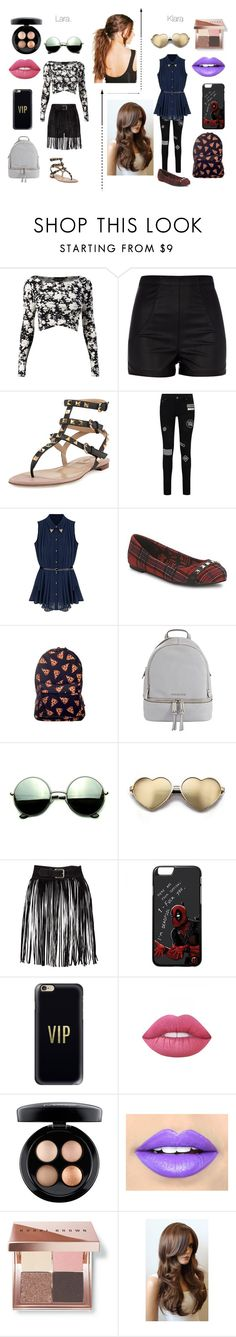 """""""Untitled #68"""" by mys-rugbjerg-risbank-jensen on Polyvore featuring River Island, Valentino, Abbey Dawn, MICHAEL Michael Kors, Revo, Wildfox, Casetify, Lime Crime, MAC Cosmetics and Fiebiger"""