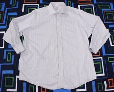 Brooks Brothers Striped Shirt Sz 18 4/5 Dress Casual Button Up Long Sleeve 346 #BrooksBrothers #ButtonFront