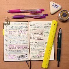 ----------- ・ 能率手帳用にサラサを買ったのに万年筆ばっかりで全然使ってません(笑) ・ #能率手帳 #日記 #万年筆 #ライフログ #手帳  #NOLTY #キャップレス絣 #キャップレス