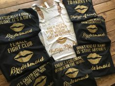I NEED THESE! bridesmaid movie quote tanks custom bridal by LineLiamBoutique