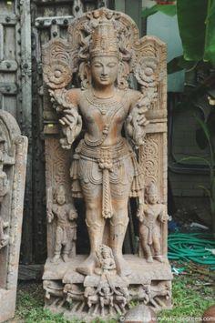 Sand Stone Statue of Lord Surya sun