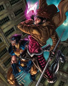 Wolverine and Gambit  #supergirl #captainamerica #ironman #avengers #spiderman #hawkeye #superman #marvelcomics #joker #justiceleague #batman #theflash #deadpool #starwars #magneto #captainamericacivilwar #thor #dccomics #civilwar #harleyquinn #daredevil #hulk #wolverine #xmen #wonderwoman #gambit