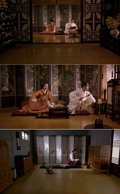 TRaditional interior in Korea Movie 'Untold Scandal', 2003 Traditional Interior, Korean Traditional, Traditional Fashion, Traditional Outfits, Korean Drama Tv, Half Korean, Scandal, Kdrama, Coastal