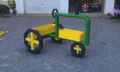 Tractor with planter boxes, hubby's Mother's Day gift:)