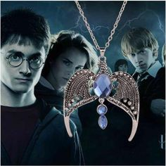 Harry Potter Ravenclaw vintage necklace Magic Academy lost crown jewel