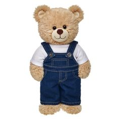 Each and every one of our adorable Teddy bears clothes have a personality of their own. Display yours with Teddy bear clothing from Build-A-Bear Workshop. Cute Stuffed Animals, Cute Animals, Custom Teddy Bear, Build A Bear Outfits, Teddy Bear Pictures, Teddy Bear Clothes, Denim Overalls, Overalls Outfit, Steampunk