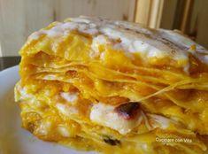 Pumpkin Lasagna, Zucchini Lasagna, Salty Foods, Just Cooking, Gnocchi, Pasta Dishes, Family Meals, Italian Recipes, Pasta Recipes