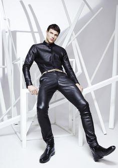 JITROIS SS16 - WANDER shirt stretch lambskin, TREILLIS pants stretch lambskin ,JITROIS belt box-calf