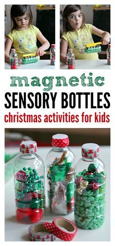 Holiday magnetic sensory bottles for kids