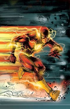 We recently featured some outstanding art from the Marvel Universe. Today, we have even more comic art but this time from the DC Universe. DC comics include some of your favorite super heroes such. Flash Comics, Dc Comics Art, Marvel Dc Comics, Marvel Comic Universe, Dc Universe, Flash Art, The Flash, Gorillaz, Comic Books Art