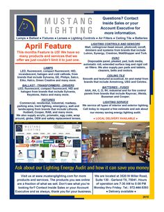 Our April Feature is US! We have so many products and services to offer we couldn't limit it to just one this month.
