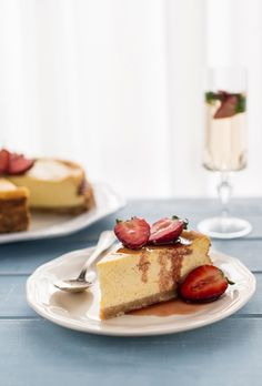 Ricotta Cheesecake with Balsamic Strawberries + recipe and the secret to making the fluffiest cheesecake ever  via  Bakenoir.com