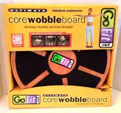 Go Fit Ultimate Core Wobble Board - Premium Hardwood 18 Inch Base - DVD GF-RWBB #GoFit #GoFit #UltimateCoreWobbleBoard