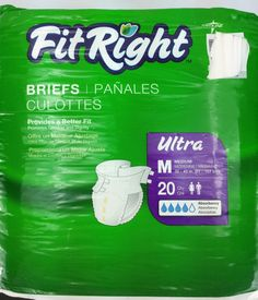 Fit Right Disposable Underwear 20 Count Size M #FitRight
