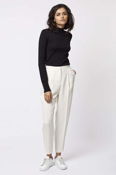 Photo 6 of Pinstripe Print Peg Leg Trousers